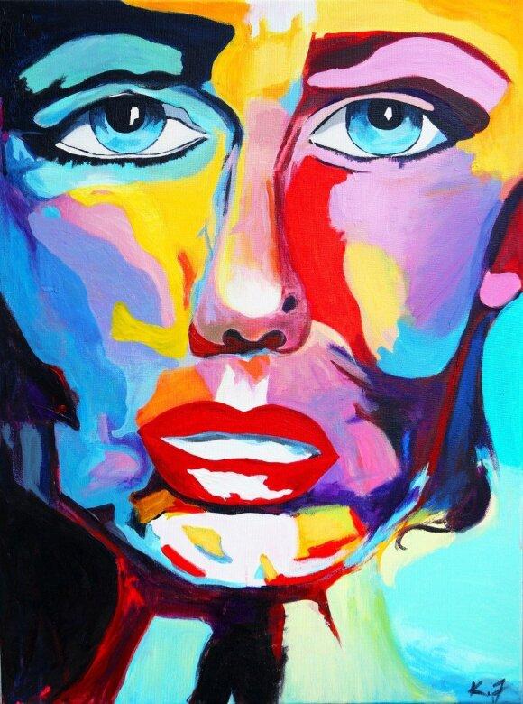 K. Jarmalytė savo tapyba perteikia ambiciją būti individualiam, netobulam, bet tikram