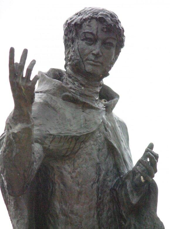 Paminklas M. K. Oginskiui Guzove (skulpt. A. Renes, Lenkija)