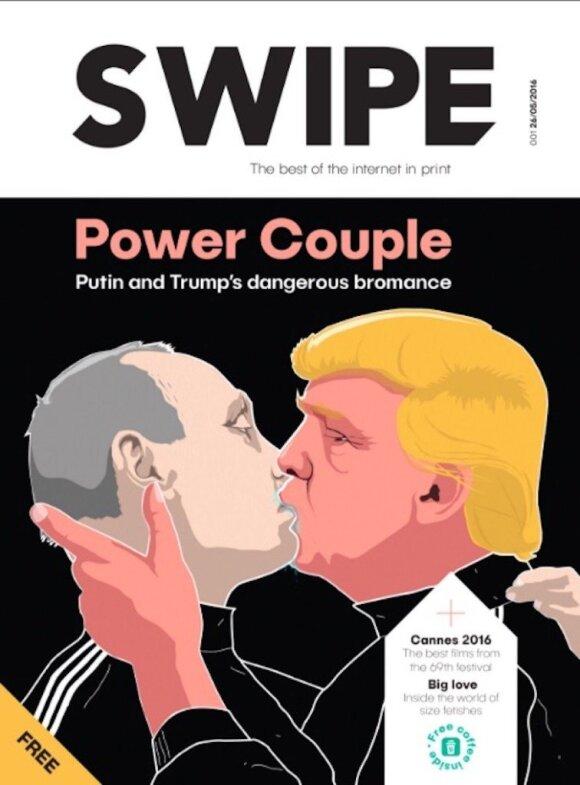 """Eksperimentinio Londono žurnalo """"Swipe"""" viršelyje – garsusis """"Keulė Rūkė"""" grafiti"""