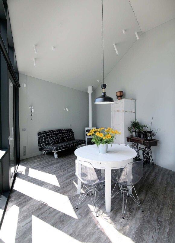 Svečių kambarys kartais virsta dizainerės studija