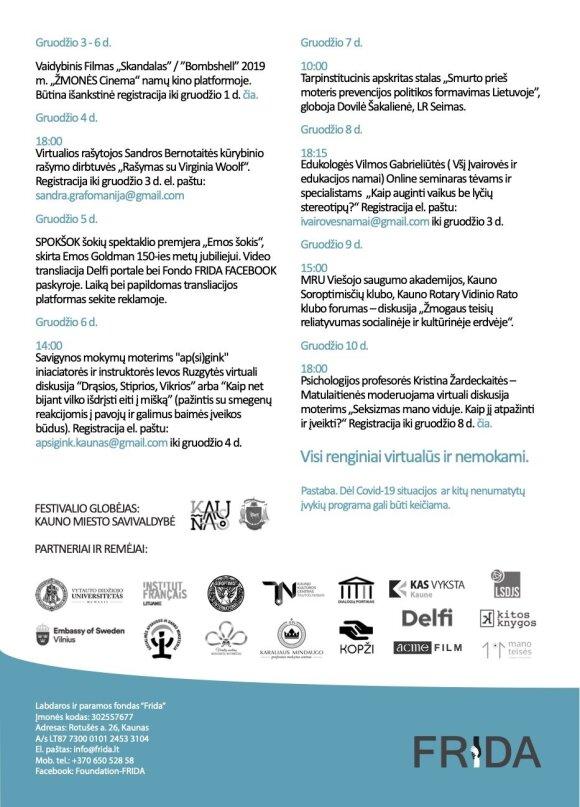Festivalio programa