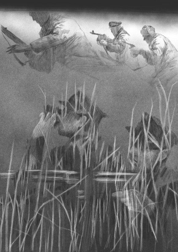 Naujojo Šarūno Barto filmo kūryba prasidėjo nuo jaunos grafikės piešinių