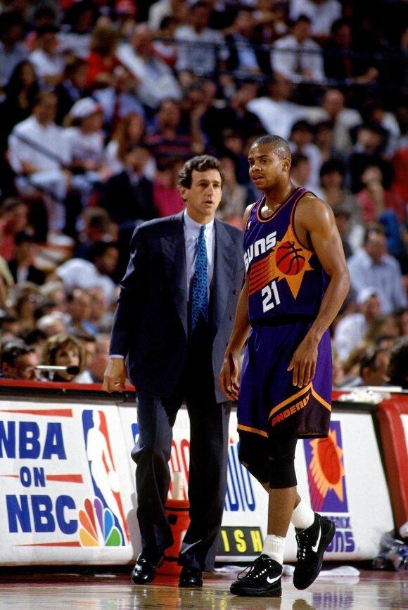 Paulas Westphalas ir Richardas Dumasas 1993-ių metų NBA finale