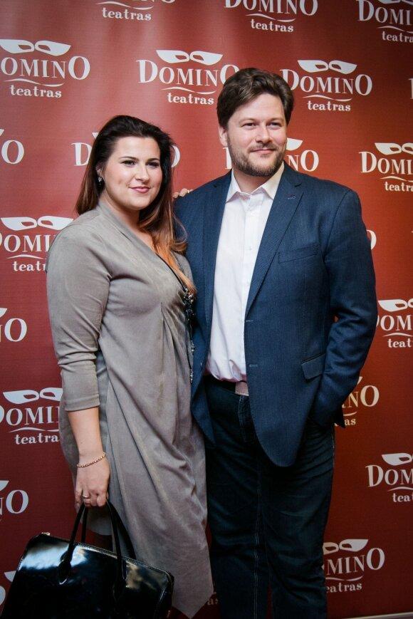 Merūnas Vitulskis su žmona Erika