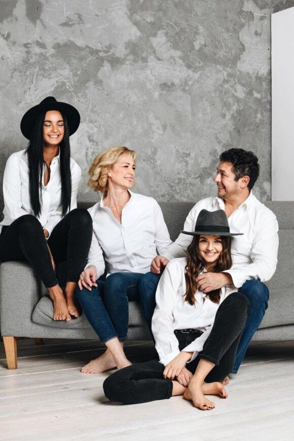 Gabrielė Martirosianaitė su šeima
