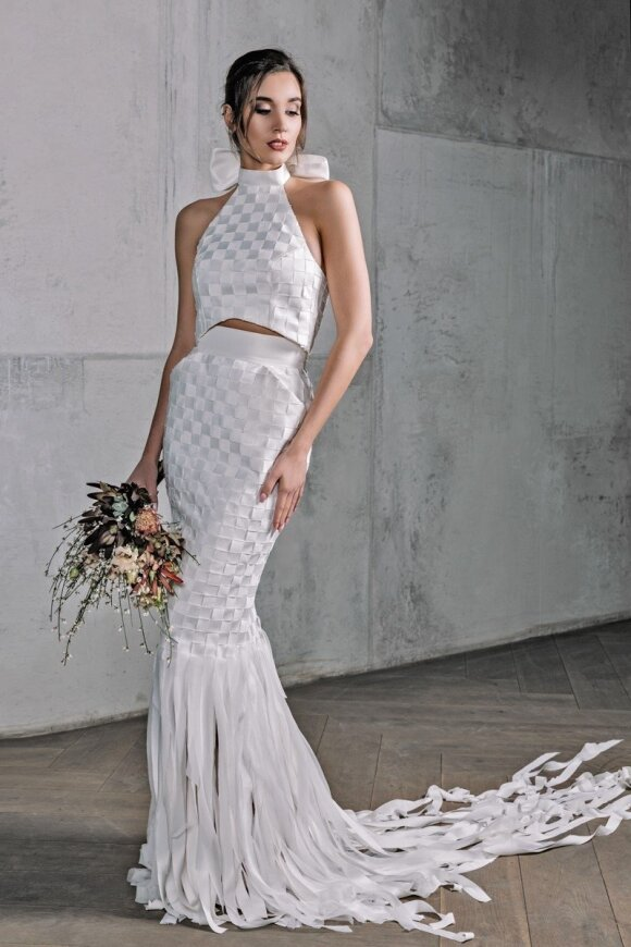 Dizainerė Agnė Deveikytė pristatė pintas nuotakų suknelės