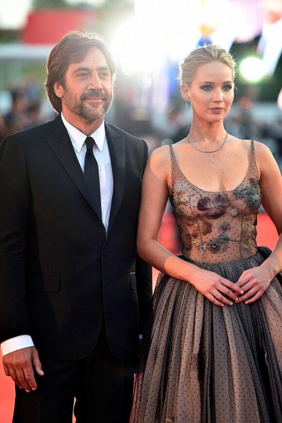 Javieras Bardemas ir Jennifer Lawrence