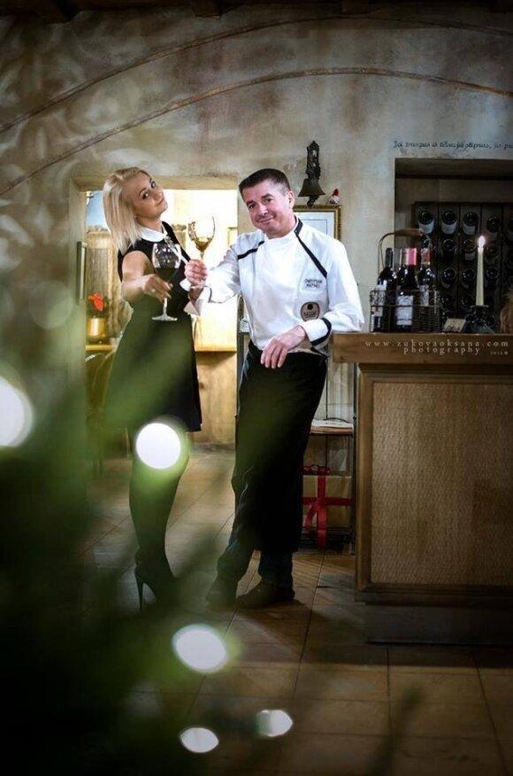 Virtuvės šefas Christian Mathis ir restoranų vadovė Indrė Markulytė