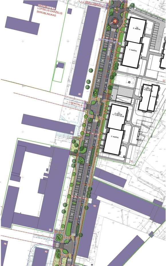 Planuojama pertvarkyti gatvę Vilkpėdėje: naujos automobilių stovėjimo vietos, apsisukimo žiedai ir šaligatvis