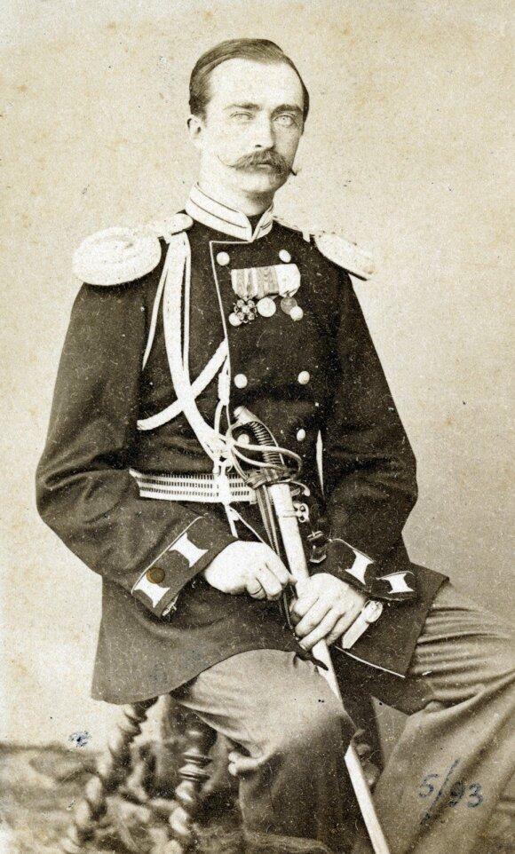 Juozapas Tiškevičius Paryžiuje. Fot. L. Lafonas. Apie 1864 m.