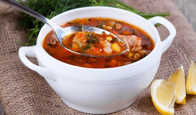 Tiršta guliašinė sriuba su pomidorais (labai sotu!)