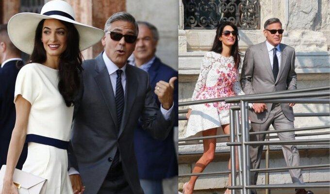 PAMATYK: G. Clooney ir A. Alamuddin slaptos ir intymios vestuvių nuotraukos (kaip atrodė jaunosios suknelė?)