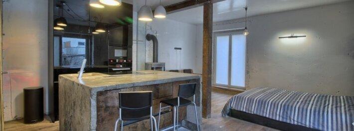 Šiuolaikiškas, industrinio stiliaus 40 kv.m. butas-studija ant Kuršių marių kranto