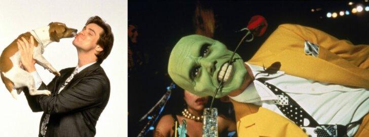 Jimas Carrey su Mailo, filmo Kaukė akimirkos