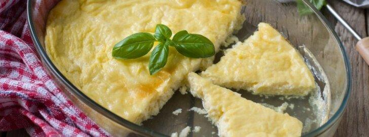 Skubantiems rytais: purus omletas iš dviejų ingredientų