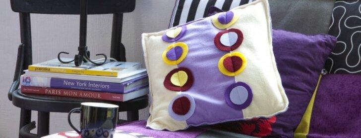 Pasidaryk pats: spalvingas dekoras iš dirbtinio veltinio