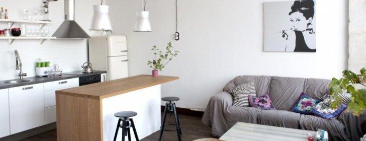 """44 kv.m minimalistinio stiliaus loftas Vilniuje <span style=""""color: #ff0000;"""">FOTO</span>"""