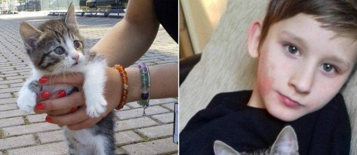 Jaudinanti draugystė: sunkiai sergantis berniukas geriausią vaistą rado prieglaudoje