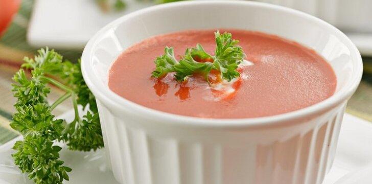 Aštri trinta pomidorų sriuba su pupelėmis