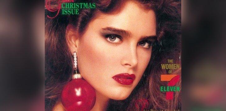 """1986 m. gruodžio """"Playboy"""" viršelyje - Brooke Shields"""