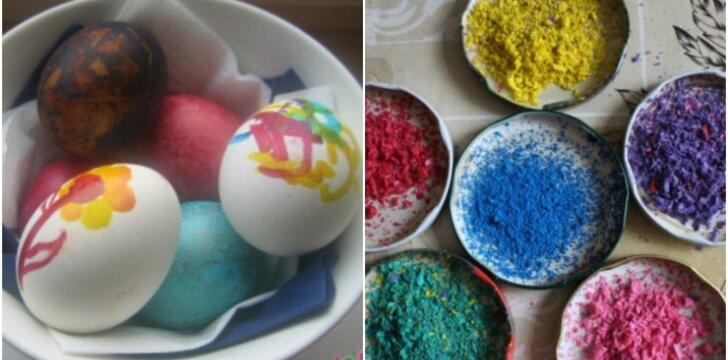 Velykų belaukiant: įdomiausi kiaušinių dažymo būdai