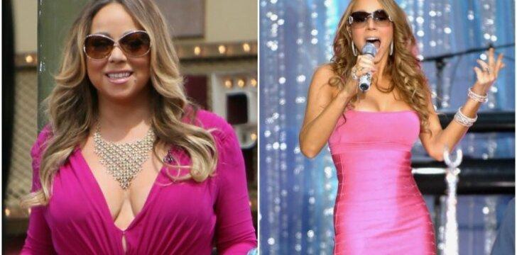 """Mariah Carey nesuka galvos <span style=""""color: #ff0000;"""">dėl savo antsvorio</span> <sup>FOTO</sup>"""