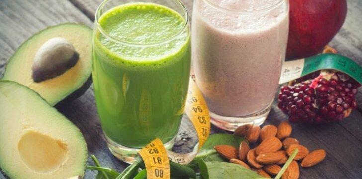 Detoksikuojantys kokteiliai: pusryčiams, pietums ir vakarienei