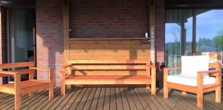 Darau pats: terasos baldai per tris dienas