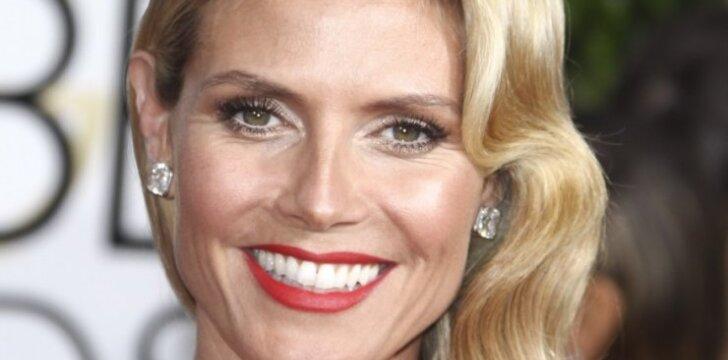Supermodelio Heidi Klum tėvas filmavo keturis jos gimdymus