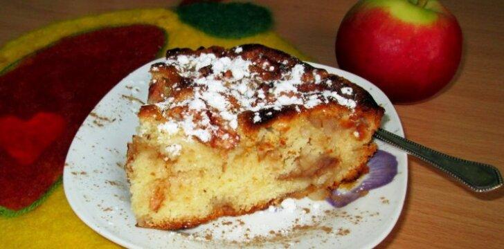 Ko gero, lengviausiai pagaminamas ir skaniausias obuolių pyragas