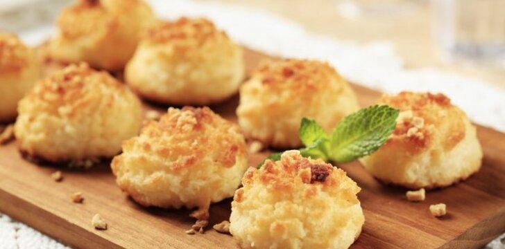Kokosiniai sausainiai – tiesiog tirpsta burnoje!