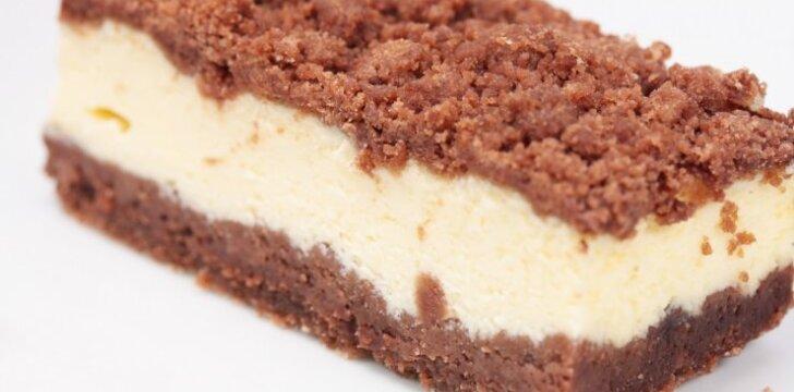 Prancūziškas šokoladinis varškės pyragas