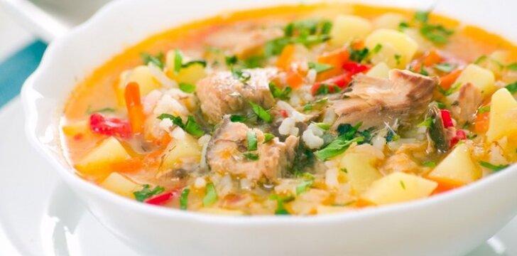 Gardi žuvies šiupininė sriuba