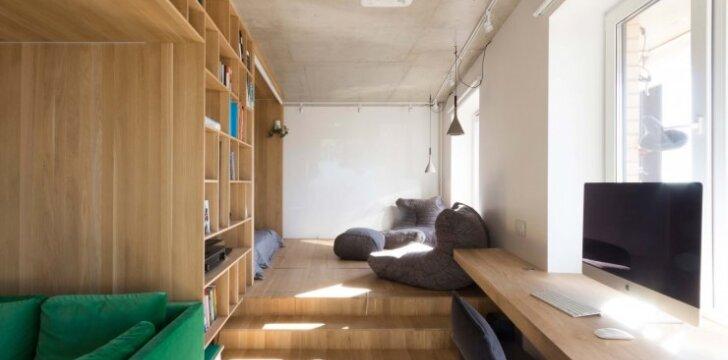Maža erdvė: ribų galimybės 47 kv.m bute Maskvoje