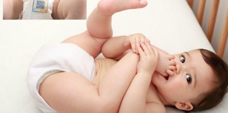 Sensacingas išradimas: išmaniosios sauskelnės atlieka vaiko šlapimo tyrimą
