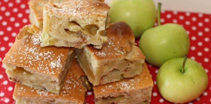 Obuolių pyragas, kuris visada pavyksta ir sulaukia pagyrų