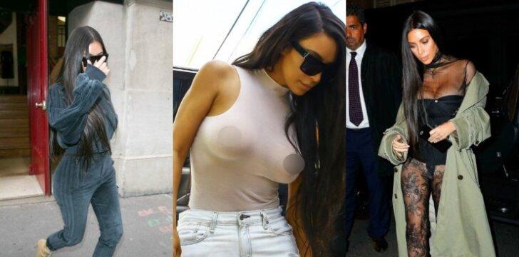 Kim Kardashian pridengti tarpkojui pakanka nėrinių skiautelės