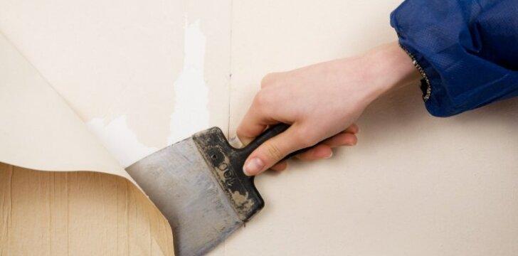 Patarimai, kurie padės pašalinti tapetus nuo gipskartonio sienų