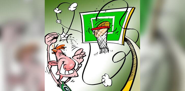 Krepšinis - karikatūra