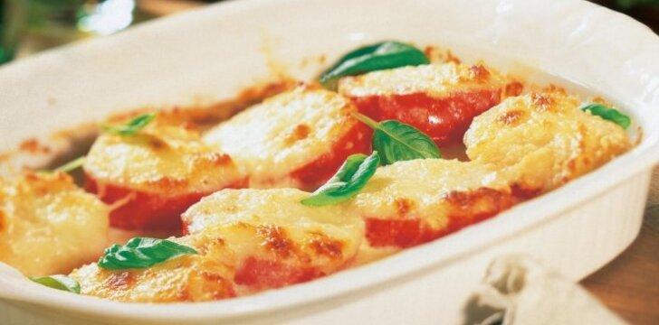Pomidorų ir sūrio apkepas