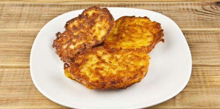 Bulvių blynai KITAIP: su kumpiu ir mocarela