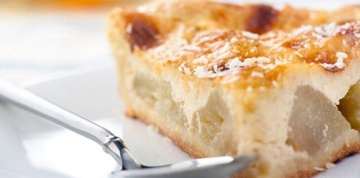 """GREITAS obuolių pyragas <span style=""""color: #ff0000;"""">be sviesto</span>"""