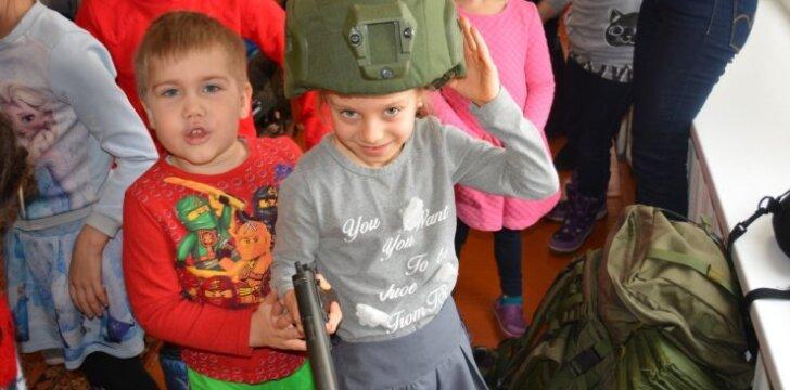Juozo Vitkaus inžinerijos bataliono kariai lankėsi Zapyškio lopšelyje-darželyje