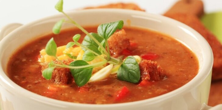 Greitai paruošiama daržovių sriuba