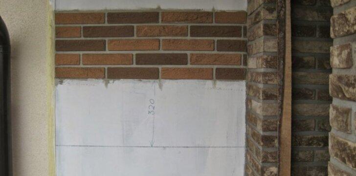 """<span style=""""color: #ff7f00;"""">Darau Pats:</span> fasado klijavimas lanksčiomis klinkerinėmis plytelėmis"""