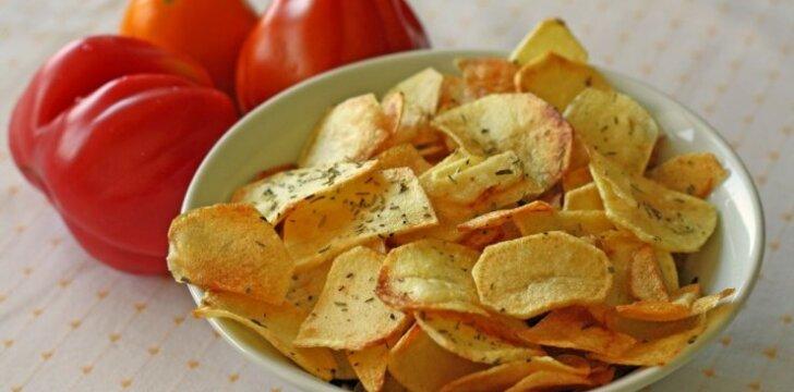 Kaip namuose pagaminti bulvių traškučių
