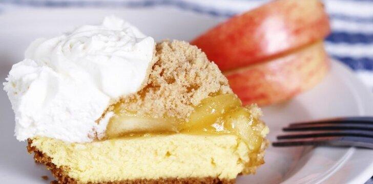 Sūrio pyragas su obuoliais