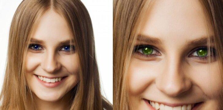 Pabandyk su savo nuotrauka: kaip atrodytų tavo akys, jei pakeistum jų spalvą