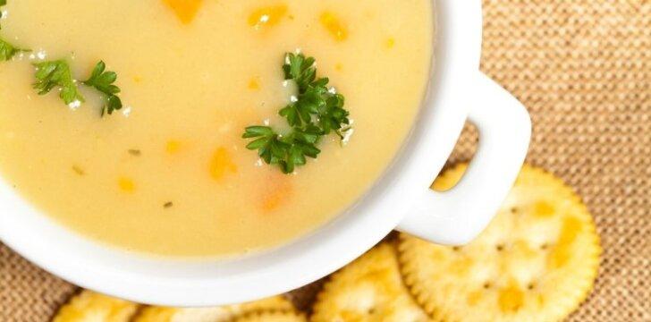 Pieniška moliūgų sriuba