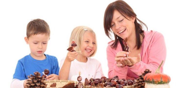 10 žaidimų su vaikais rudenį